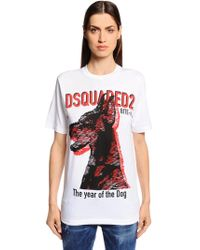 DSquared² - Doberman Printed Cotton Jersey T-shirt - Lyst