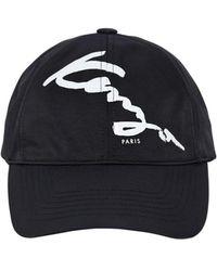 82b7a20b211 Lyst - Kenzo Printed Baseball Cap in Black for Men