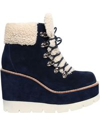 Jeffrey Campbell - 80mm Fowler Suede & Faux Shearling Boots - Lyst