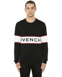 Givenchy - Logo Jacquard Wool Knit Sweater - Lyst