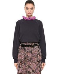 Étoile Isabel Marant - Cotton & Linen Blend Sweatshirt - Lyst