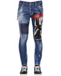 DSquared² 16cm Jeans Aus Baumwolldenim Mit Mit Druck