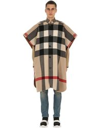 Burberry - Reversible Wool Blend Double Cape - Lyst
