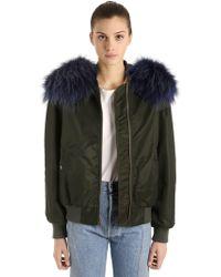 Mr & Mrs Italy - Original Fit Bomber Jacket W/ Fur - Lyst