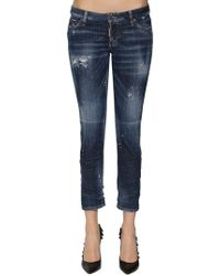 DSquared² - Jeans Skinny In Denim Destroyed - Lyst