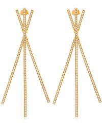 Joanna Laura Constantine - Criss Cross Statement Earrings - Lyst