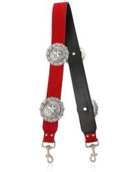 KATE CATE - Regina Suede & Leather Shoulder Strap - Lyst
