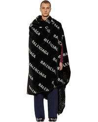 Balenciaga Manta Oversize De Piel Sintética Con Logo - Negro