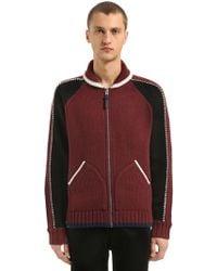 COACH - Zip-up Wool Blend Knit Cardigan Jacket - Lyst