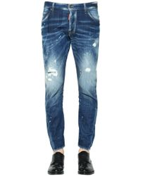 "DSquared² Jeans ""sexy Twist"" In Denim Destroyed 16cm"