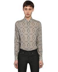 Saint Laurent - Yves Paisley Printed Wool Shirt - Lyst