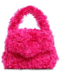 Moschino - Mohair Top Handle Bag - Lyst