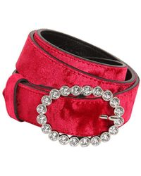 KATE CATE - Madonna Crystal Buckle Velvet - Lyst