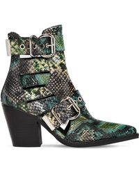 Jeffrey Campbell - 75mm Guadalupe Snake Print Leather Boots - Lyst
