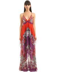 Roberto Cavalli - Printed Silk Georgette Dress - Lyst