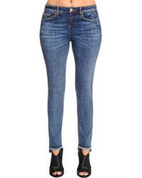 Marina Rinaldi - Skinny Cotton Denim Jeans - Lyst