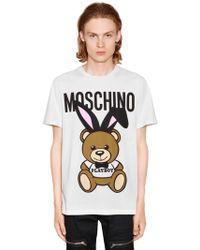 Moschino - Playboy Teddy Bear Print Jersey T-shirt - Lyst