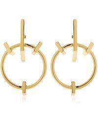 Schield | Geometrical Love Earrings | Lyst