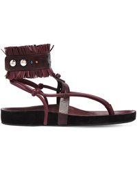Isabel Marant - 20mm Eliby Fringed Leather Sandals - Lyst