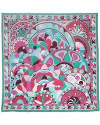 Emilio Pucci - Maxi Nigeria Print Silk Voile Scarf - Lyst