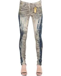 Robin's Jean - Slim Washed Denim Biker Jeans - Lyst