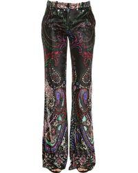 Roberto Cavalli - Paisley Printed Velvet Trousers - Lyst
