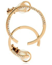 Dauphin - Volume Rose Gold & Diamond Mono Earring - Lyst