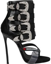 DSquared² | 120mm Multi Buckle Leather Sandal Boots | Lyst