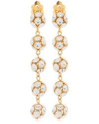 Ca&Lou - Eva Long Clip-on Earrings - Lyst