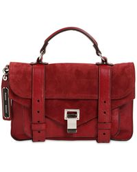 Proenza Schouler Ps1 Tiny Suede Top Handle Bag - Red