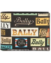 Bally - Printed Coated Leather Classic Wallet - Lyst