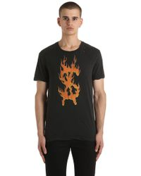 Ksubi - Travis Scott Flaming Dollar T-shirt - Lyst