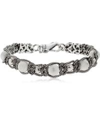 Emanuele Bicocchi - Braided Bracelet With Marble Beads - Lyst