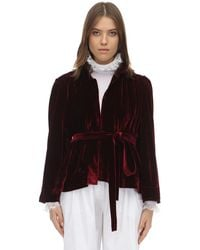Acheval Pampa Belted Techno Velvet Jacket - Multicolor