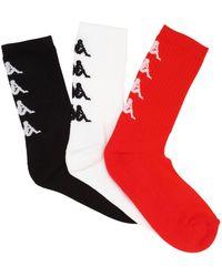 Kappa - Jacquard Logo Socks - Lyst