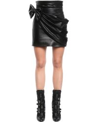 Redemption - Mini Skirt W/ Leather Bow - Lyst