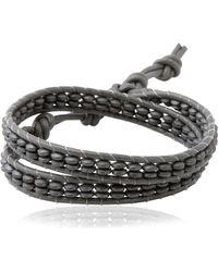 Colana - Double Wrap Leather Bracelet - Lyst