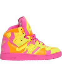 Jeremy Scott for adidas - Neon Camo Leather High Top Sneakers - Lyst