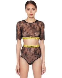 Off-White c/o Virgil Abloh - Logo Band Lace Top & Briefs - Lyst