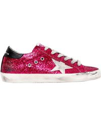 Golden Goose Deluxe Brand - 20mm Super Star Glittered Trainers - Lyst