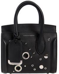 Alexander McQueen - Mini Leather Heroine Bag W/ Eyelets - Lyst