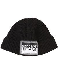 b28bc100 Versace Black Blasone Baroque Embroidered Cotton Cap in Black for Men -  Save 53% - Lyst