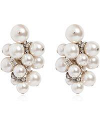 Lanvin - Imitation Pearl Cluster Earrings - Lyst
