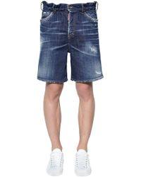 DSquared² - Marine Cotton Denim Shorts - Lyst