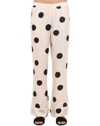 Love Stories - Polka Dot Satin Pajama Pants - Lyst