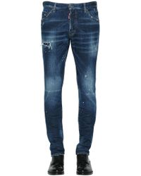 DSquared² - Jeans Cool Guy In Denim Destroyed 16.5cm - Lyst