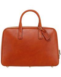 Ohba - Slim Overnight Leather Briefcase - Lyst