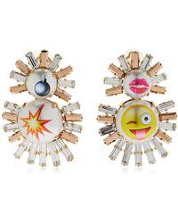 Bijoux De Famille - Emoji Live Fast Clip-on Earrings - Lyst