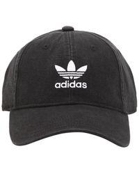 adidas Originals - Adicolor Washed Cotton Baseball Hat - Lyst f5d1b0dd0163
