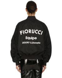Fiorucci - Lou Logo Printed Techno Bomber Jacket - Lyst